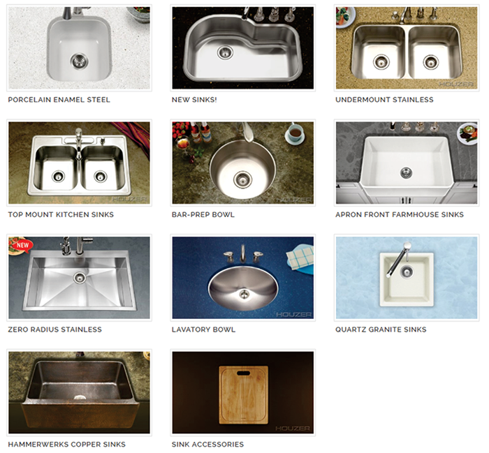 HOUZER Sinks & Faucets | G&G International Trading